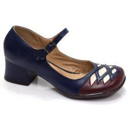 Sapato Retrô em couro Detroit