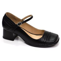 Sapato Retrô em couro Dulce