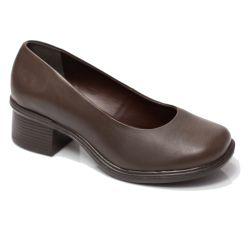 Sapato Retrô em couro Dune