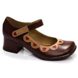 Sapato Retrô em couro Anne