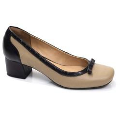 Sapato Retrô em Couro Glicínia
