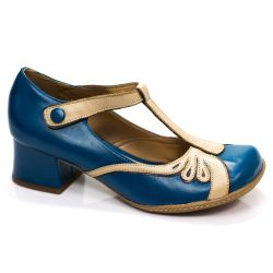 Sapato Retrô em couro Kate