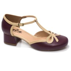 Sapato Retrô em couro Liz