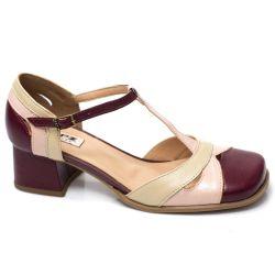 Sapato Retrô em couro Neveda