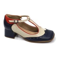 Sapato Retrô em couro Noronha