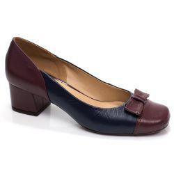 Sapato Retrô em Couro Pretzel