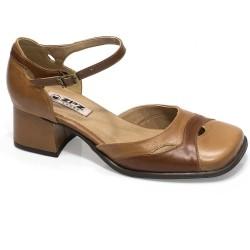 Sapato Retrô em couro Vanilla