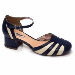 Sapato Retrô em couro Water