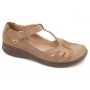 Sapato Comfort em Couro Caribbean Dourado