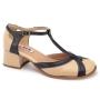 Sapato Retrô em Couro Baunilha