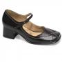Sapato Retrô em couro Blanc