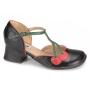 Sapato Retrô em couro Cherry