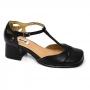 Sapato Retrô em Couro Sculp