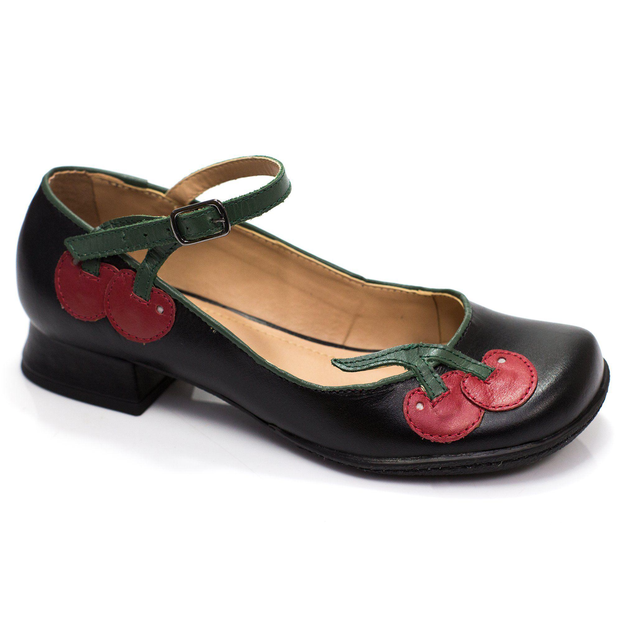Sapatilha Boneca Retrô Cherry