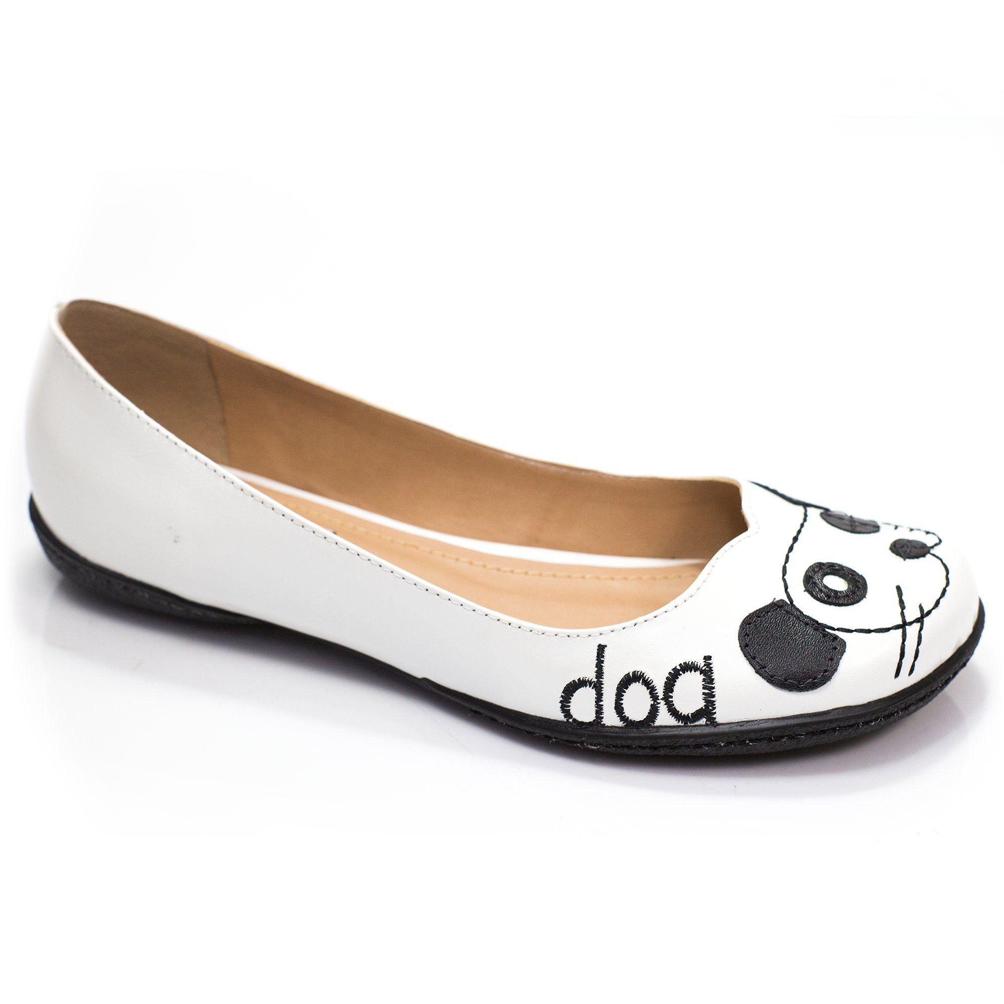 Sapatilha Boneca Retrô Dog Cat