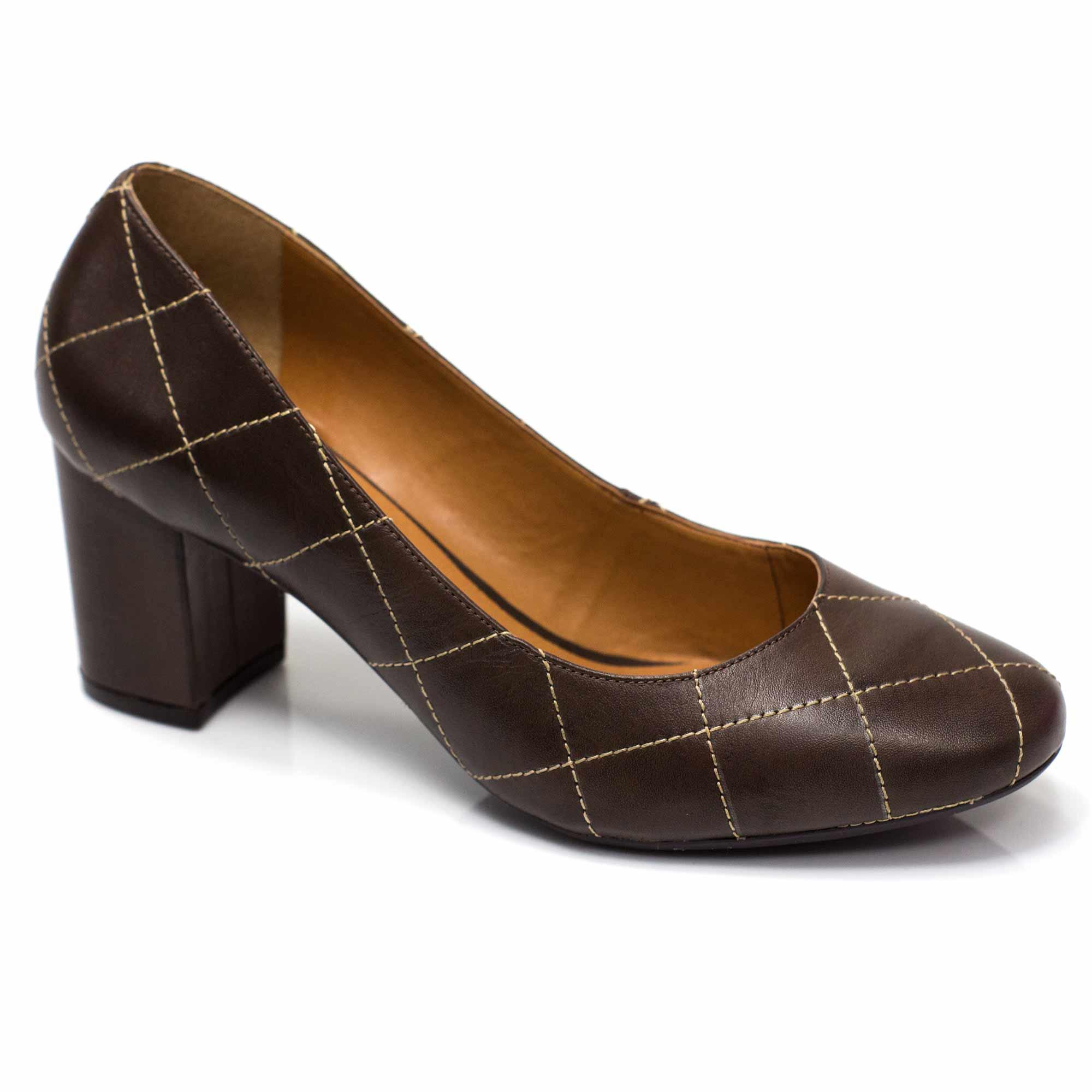 Sapato Boneca Retrô em couro Marselha