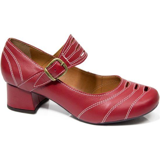Sapato Boneca Retrô em couro Snag