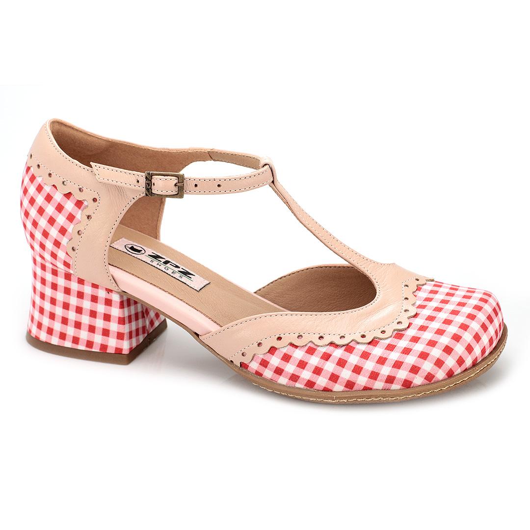 Sapato Boneca Retrô em tecido Farm