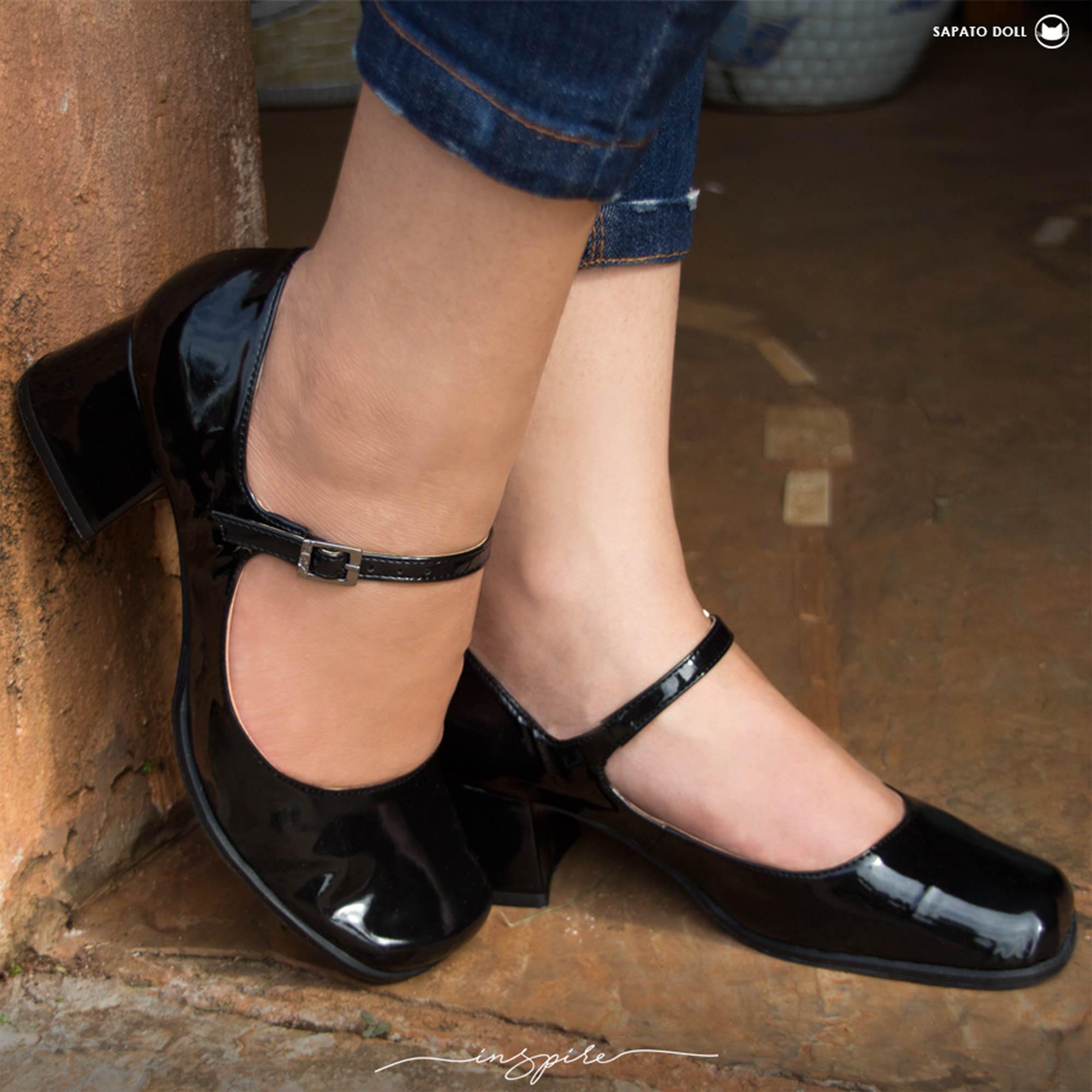 Sapato Boneca Retrô em verniz Doll