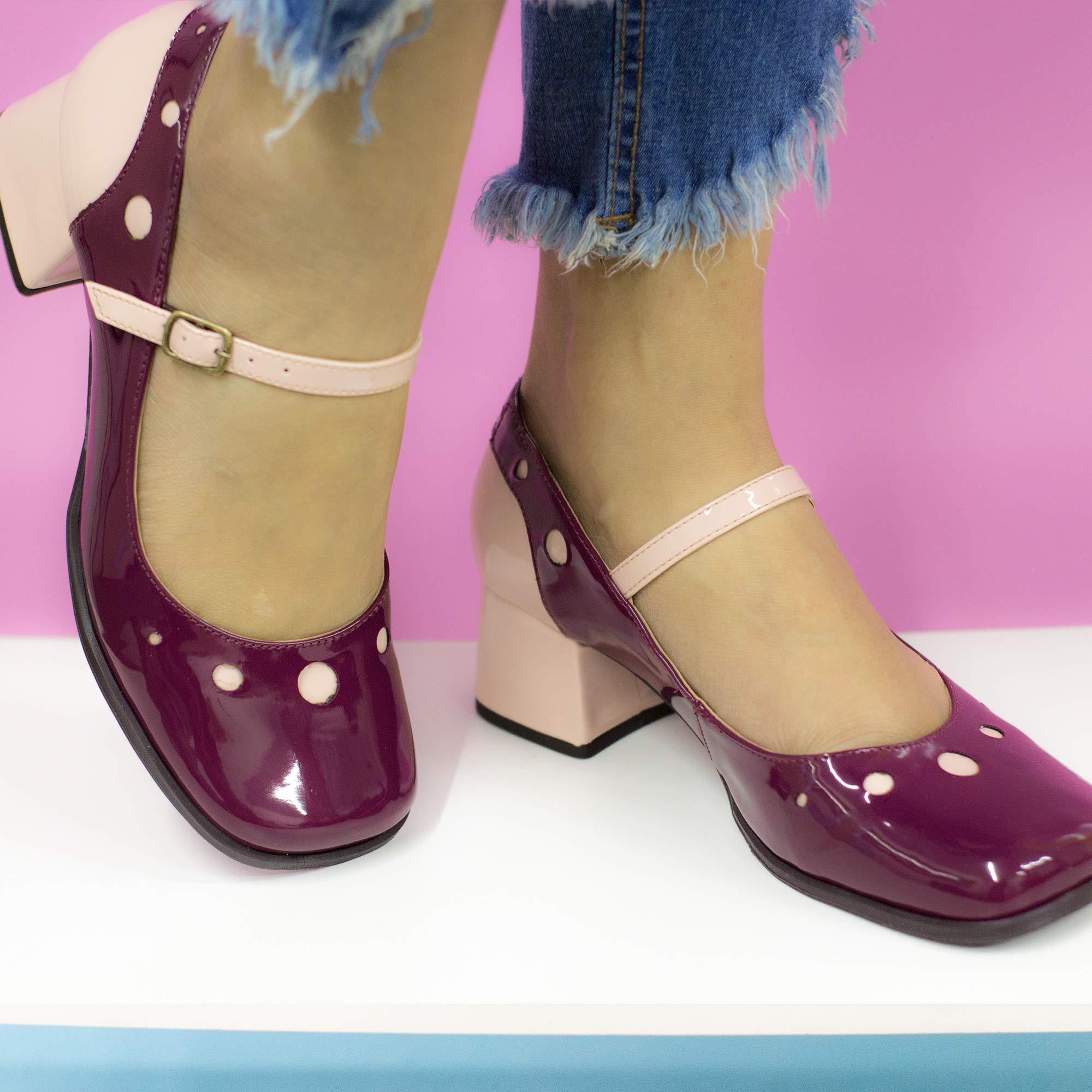Sapato Boneca Retrô em verniz Zug