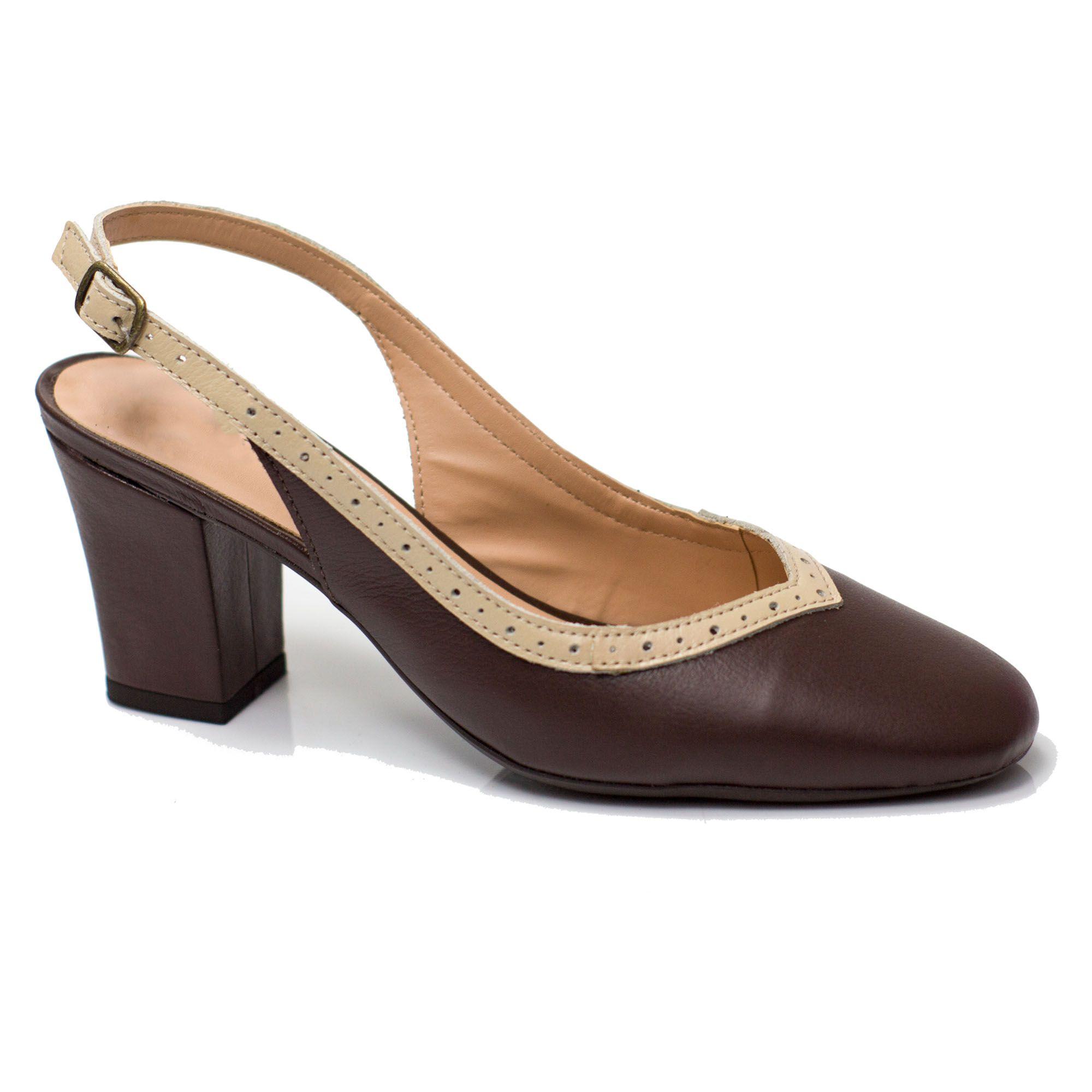 Sapato Retrô em Couro Alfajor