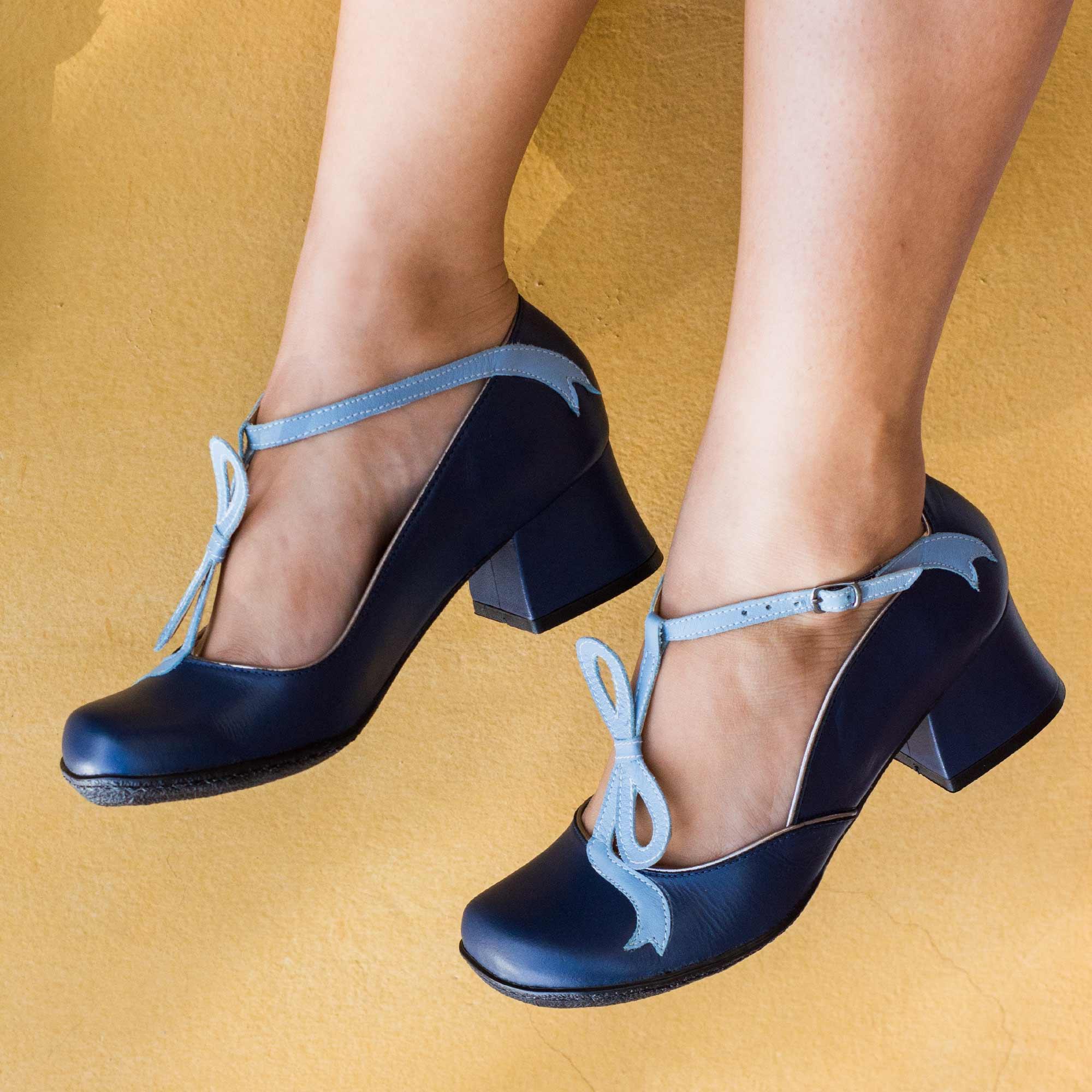 Sapato Retrô em couro Angel