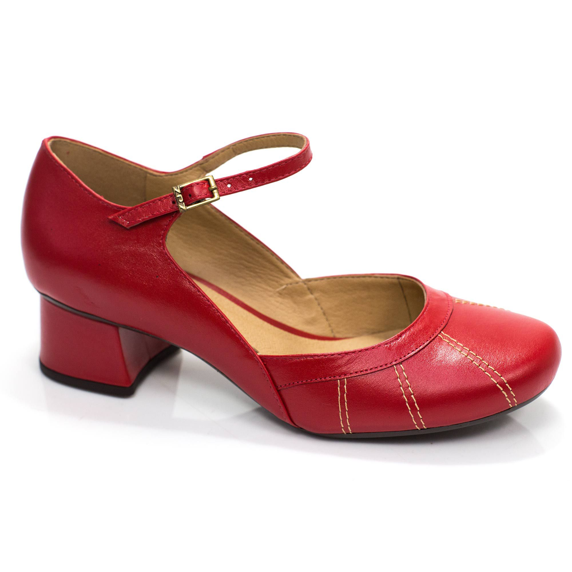 Sapato Retrô em couro Ariel