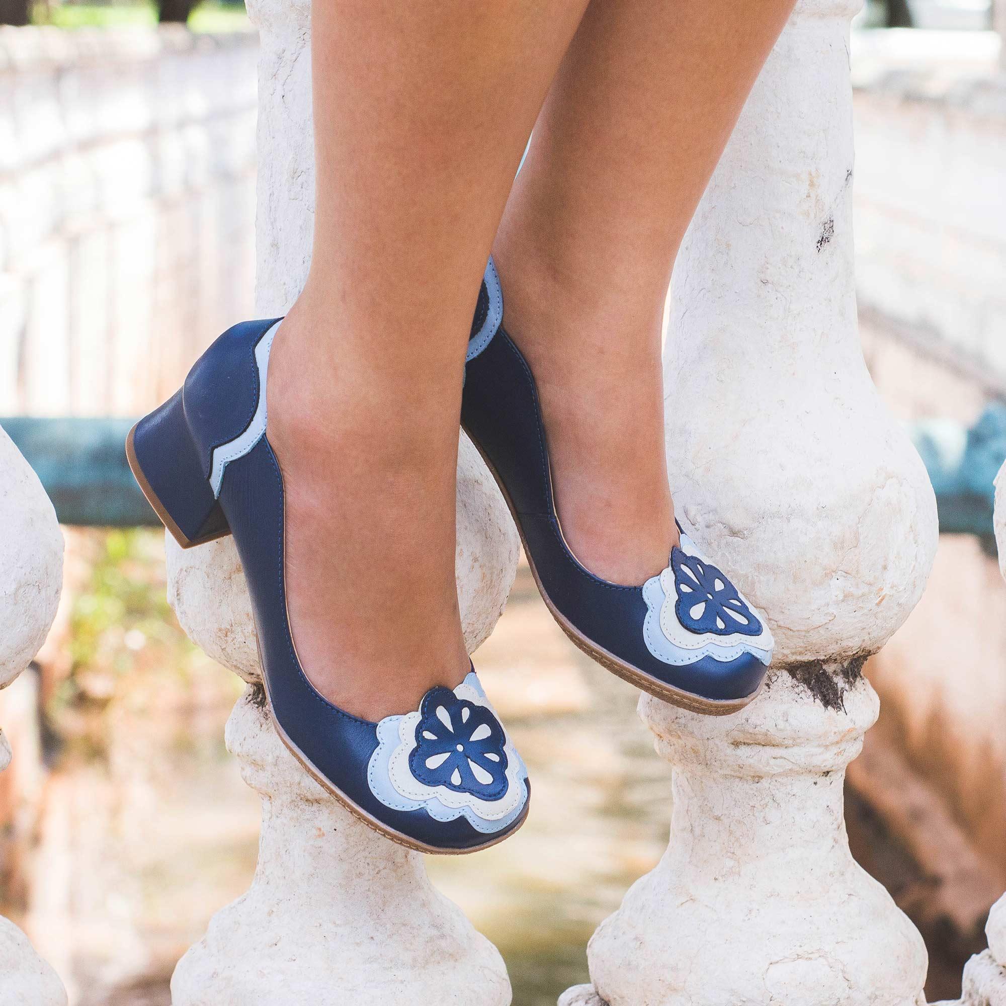 Sapato Retrô em couro Boulevard