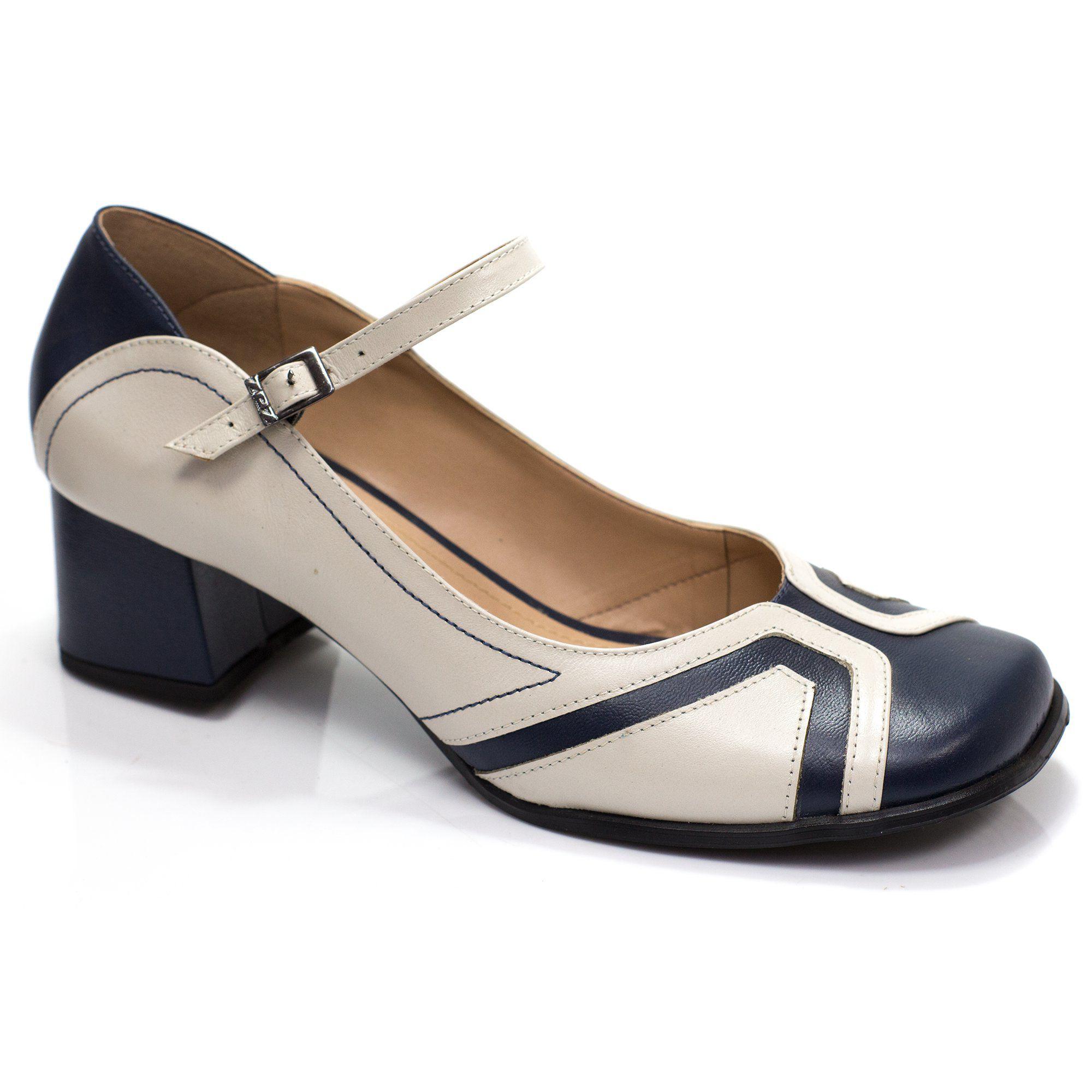 Sapato Retrô em couro Cusco