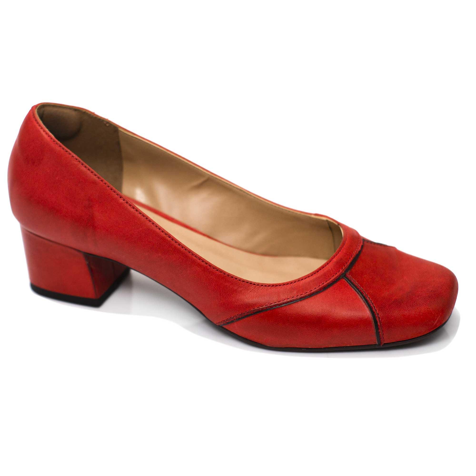 Sapato Retrô em Couro Deck