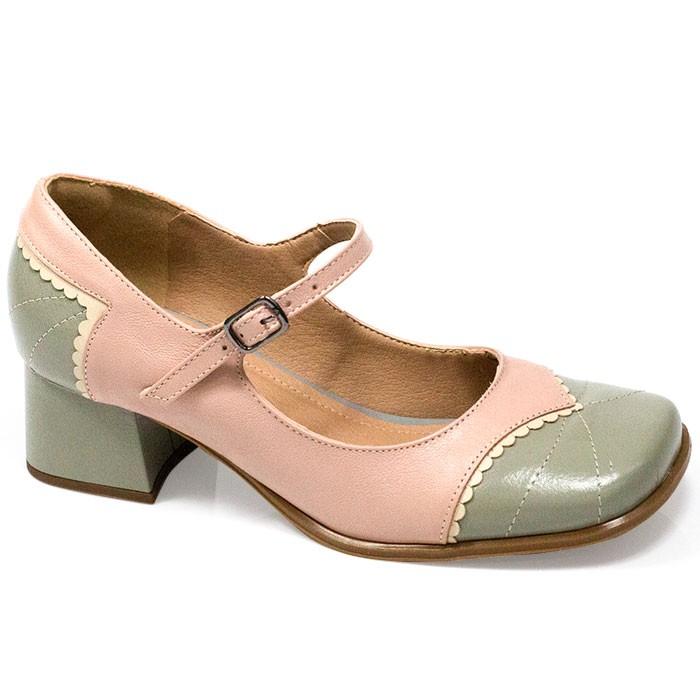 Sapato Retrô em Couro Fountain