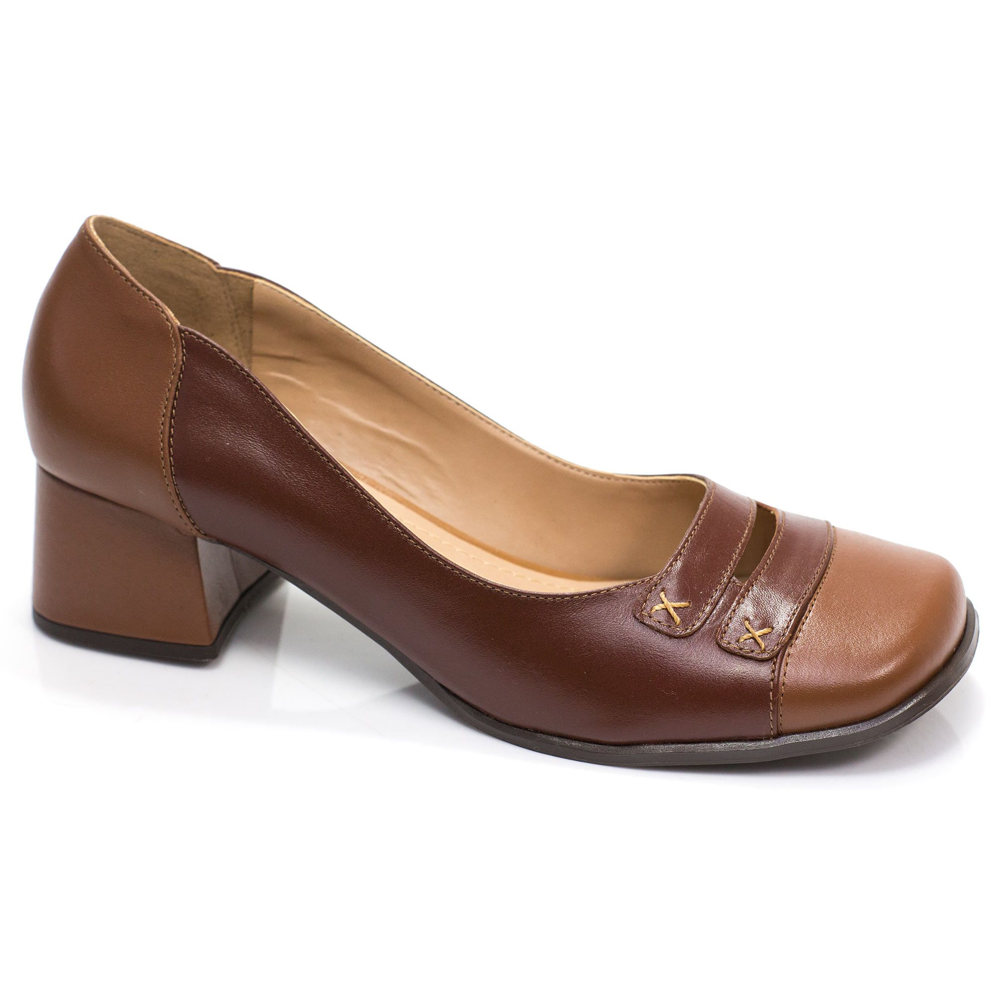 Sapato Retrô em couro Jasmine
