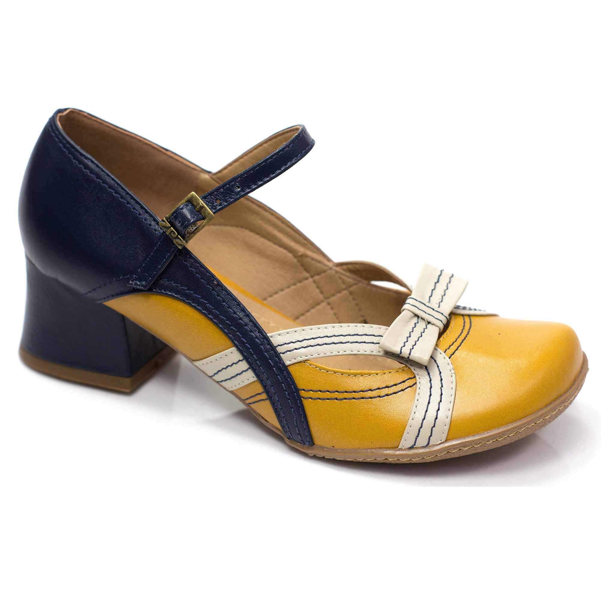 Sapato Retrô em Couro Jordan