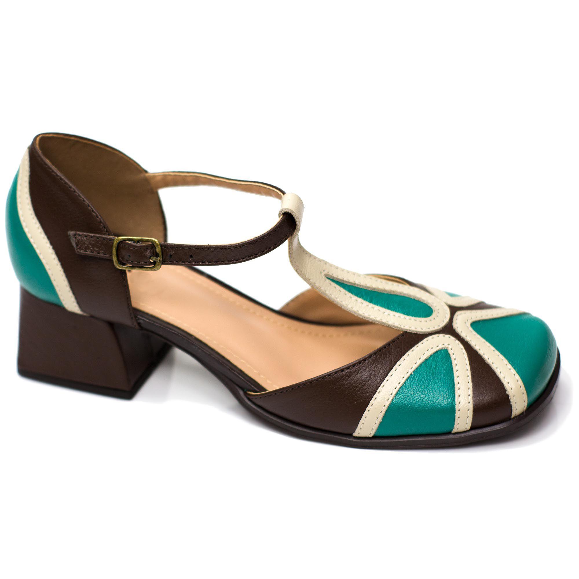 Sapato Retrô em couro Noah