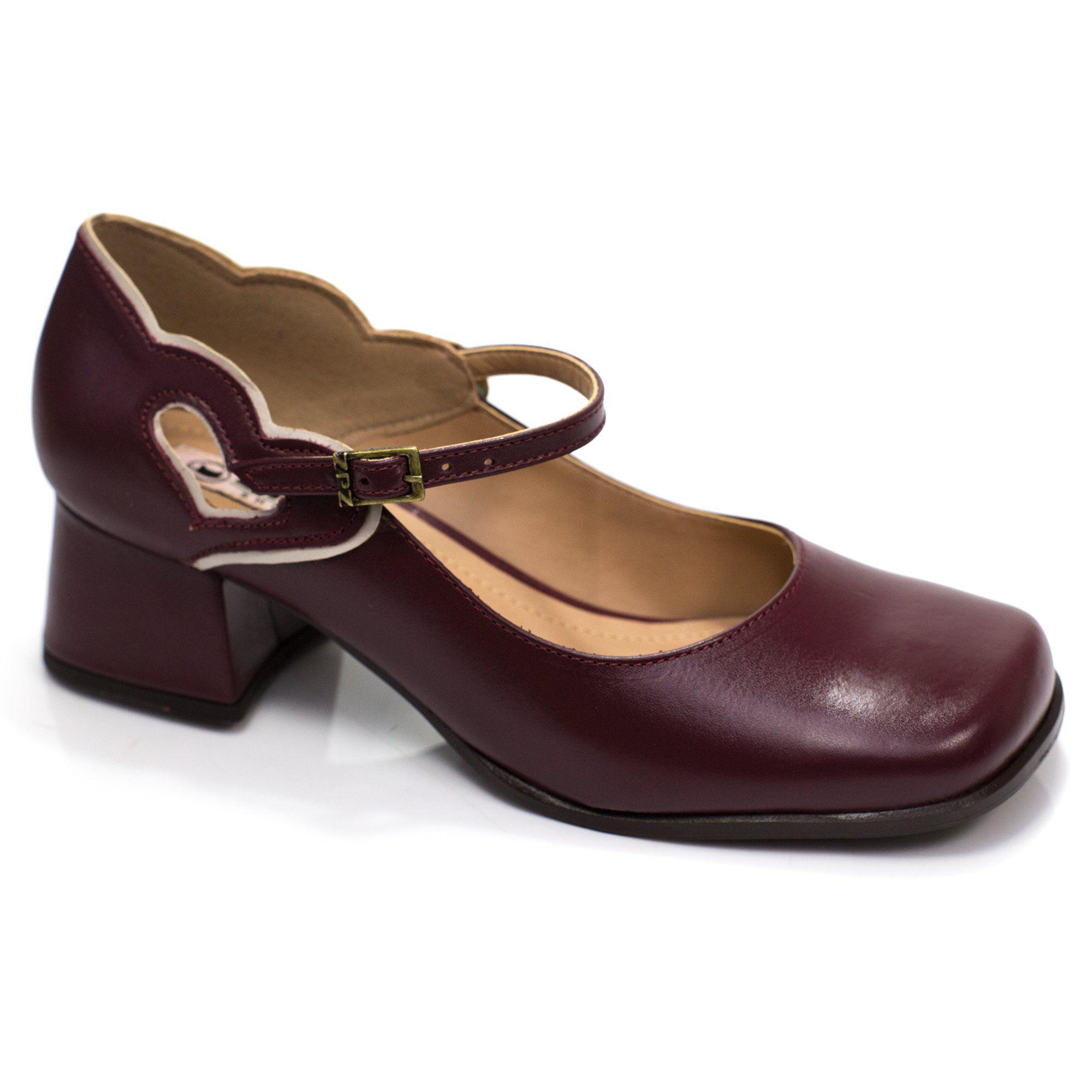Sapato Retrô em couro Susan