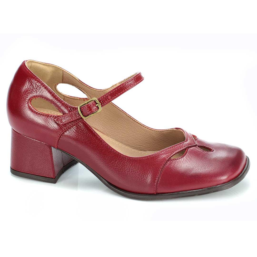 Sapato Retrô em Couro Swing