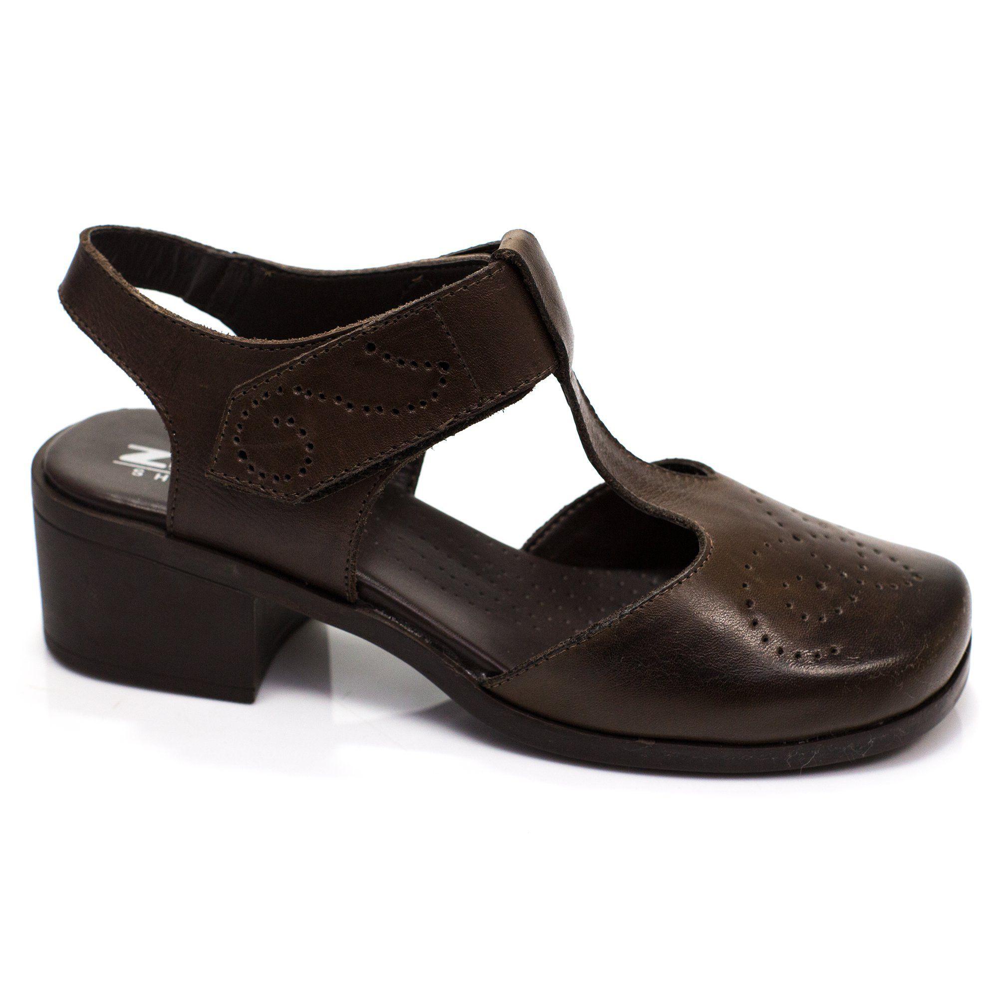 Sapato Retrô em couro Wengen