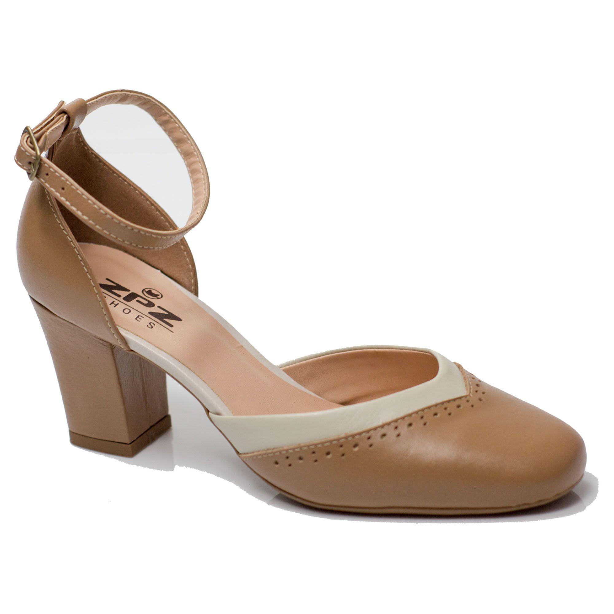 Sapato Retrô em Couro Zuppa