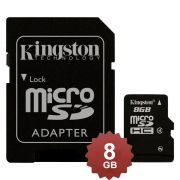 Cartão de Memoria Kingston SDC4/8GB Micro c/ 1 Adaptador SDC4/8GB