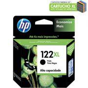 Cartucho de Tinta HP 122 XL Preto Alto Volume - CH563HB