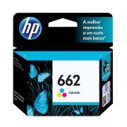 Cartucho de Tinta HP 662 Colorido - CZ104AB