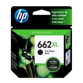 Cartucho de Tinta HP 662 XL Preto Alto Rendimento CZ105AB