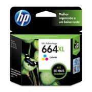 Cartucho de Tinta HP 664 XL Alto Rendimento Colorido - F6V30AB