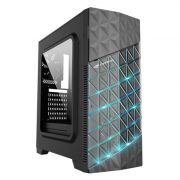 Gabinete Gamer C3TECH MT-G750BK Fan Led RGB Lat. Acrilico Preto