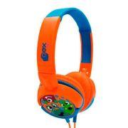 Headphone Oex Boo Infantil Hp301 Laranja e Azul