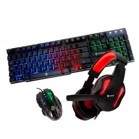Kit Gamer Teclado e Mouse Hawke MU2905 Thoth Vermelho