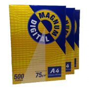 Papel Magnum A4 75g Pct 500fl Suzano