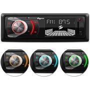 Som Automotivo Quatro Rodas MP3 Player Entrada USB, SD e Auxiliar MTC6608