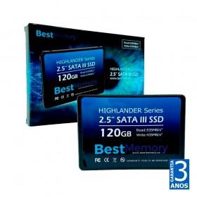 SSD BestMemory 120gb Highlander Sata III 2,5