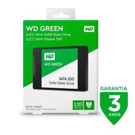 SSD WD 120GB Green Sata3 2,5 7MM WDS120G2G0A